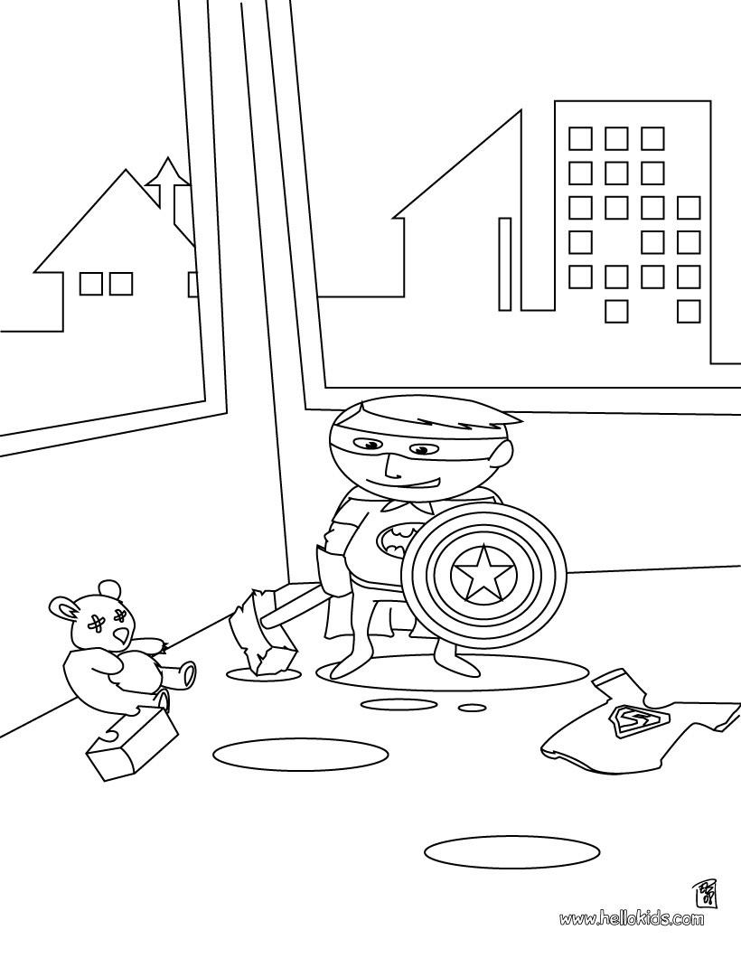 Superhelden Ausmalbilder Zum Ausdrucken Kostenlos: Kleiner Superheld Zum Ausmalen Zum Ausmalen