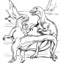 Tarbosaurus zum Ausmalen