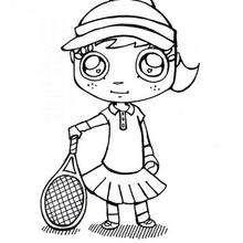 Tennis zum Ausmalen