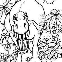 Furchteinflößender Tyrannosaurus zum Ausmalen