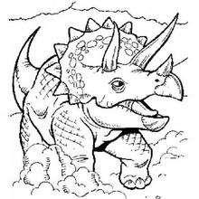Triceratops zum Ausmalen
