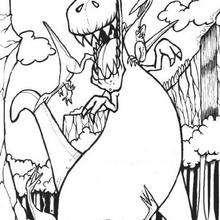 Der Feind Tyrannosaurus zum Ausmalen
