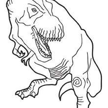 Tyrannosaurus Tyrex zum Ausmalen