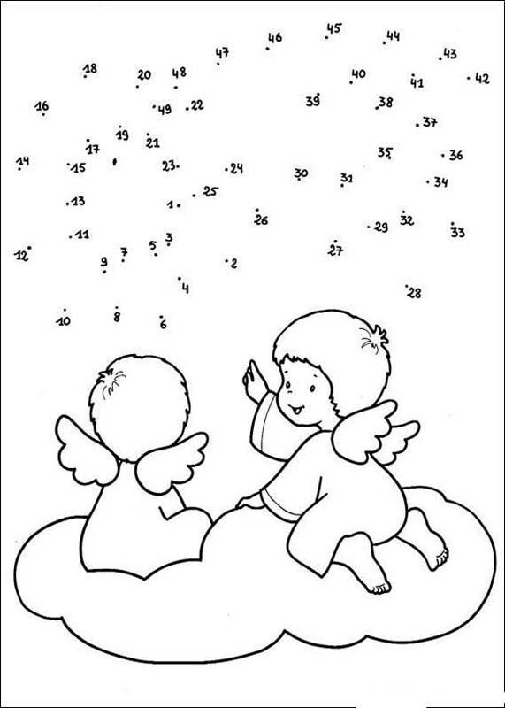 Punkte verbinden: Engel