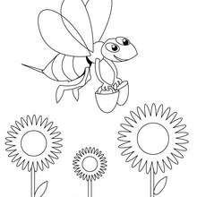 Lustige Biene zum Ausmalen