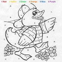 Ente Malen nach Zahlen
