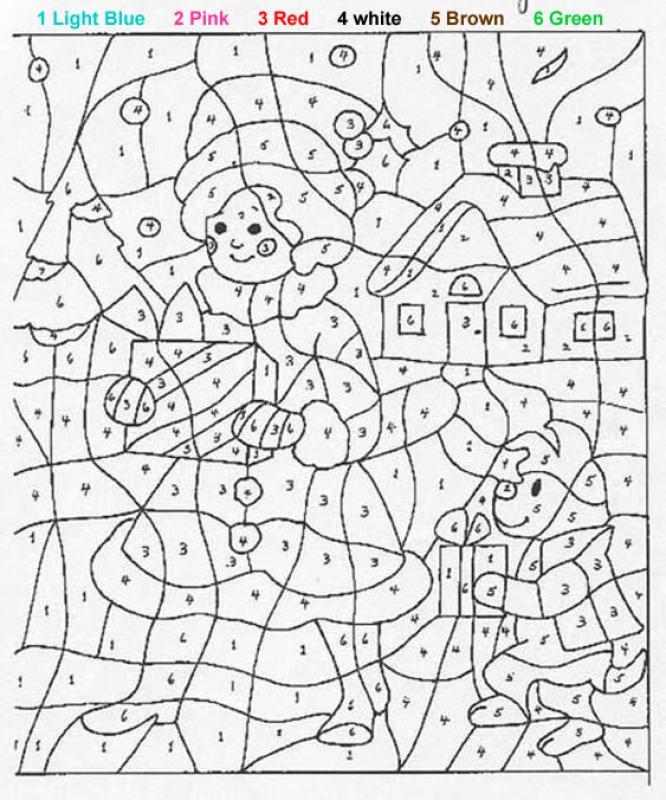 Ziemlich Weihnachten Färbung Nach Zahlen Galerie - Ideen färben ...