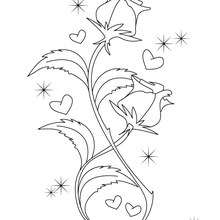Valentinstags Rose zum Ausmalen