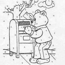 Teddybär Ausmalen nach Zahlen