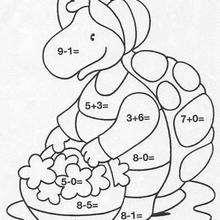 Schildkröte Ausmalen nach Zahlen
