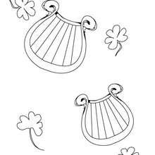 Irische Harfe zum Ausmalen