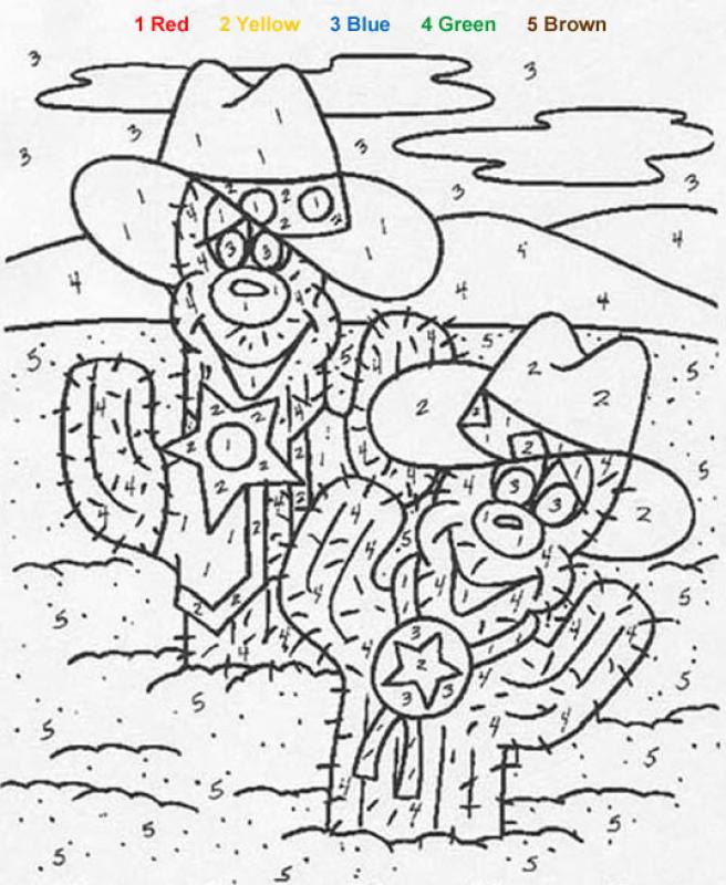 Kaktus Malen Nach Zahlen Zum Ausmalen De Hellokids Com Color By Number For Boys Free