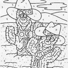 Kaktus Malen nach Zahlen