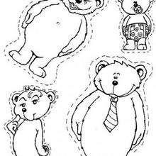 Bärenfamilie zum Ausmalen