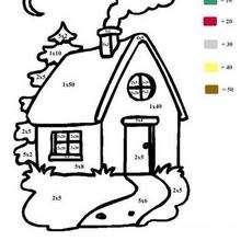 Haus Ausmalen nach Zahlen