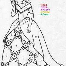 Prinzessin Malen nach Zahlen