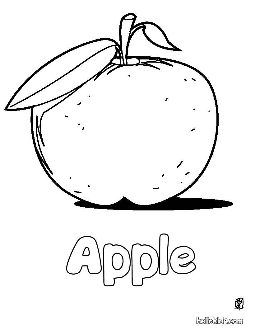 Apfel : Ausmalbilder, Kostenlose Spiele, Bilder für Kinder, Videos ...
