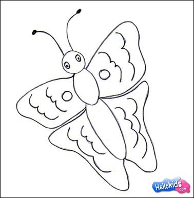 Lerne wie man einen Schmetterling malt