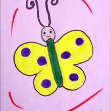 Lerne wie man einen gelben Schmetterling malt