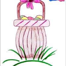 Lerne wie man ein Osterkorb malt