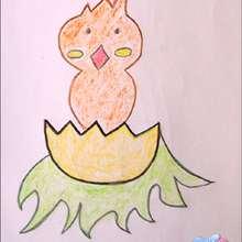 Wie man eine Osterküken malt
