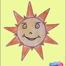 Wie man eine lächelnde Sonne malt