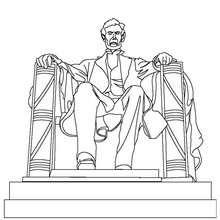 Lincoln Statue zum Ausmalen