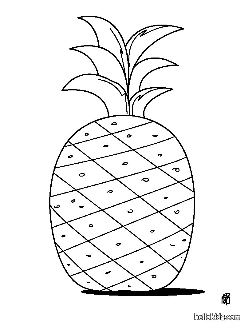 Coloring Page Of An Pineapple