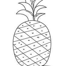 Ananas zum Ausmalen
