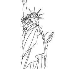 Freiheitsstatue zum Ausmalen
