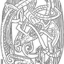 Keltischer Drache zum Ausmalen