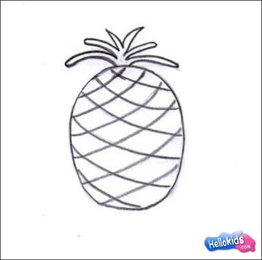 Pineapple Drawing   Pineapple Drawing Color   Pineapple Drawing ClipPineapple Drawing For Kids