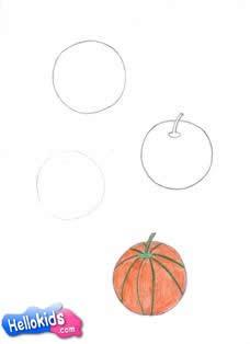Wie man eine Melone malt