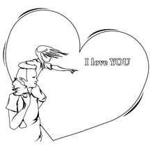 Ich liebe dich zum Ausmalen