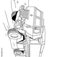 Militärlastwagen zum Ausmalen