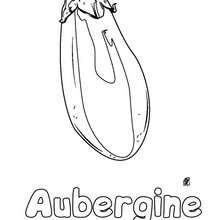 Aubergine Malbogen