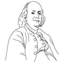 Benjamin Franklin zum Ausmalen