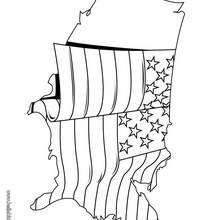 US Flagge zum Ausmalen