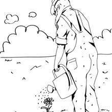 Gärtner zum Ausmalen