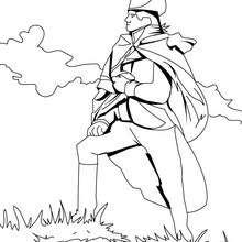 Stolzer Soldat zum Ausmalen