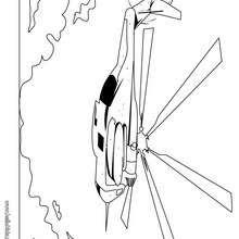 Seahawk Helikopter zum Ausmalen