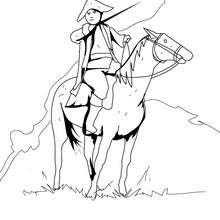 US Soldat mit Pferd zum Ausmalen