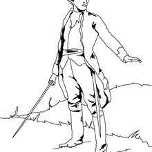 Soldat mit Schwert zum Ausmalen