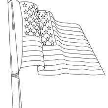 Flagge der USA zum Ausmalen