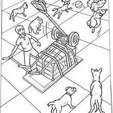 Hunde Spielmaschine zum Ausmalen