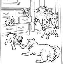 Hundespielzeit zum Ausmalen