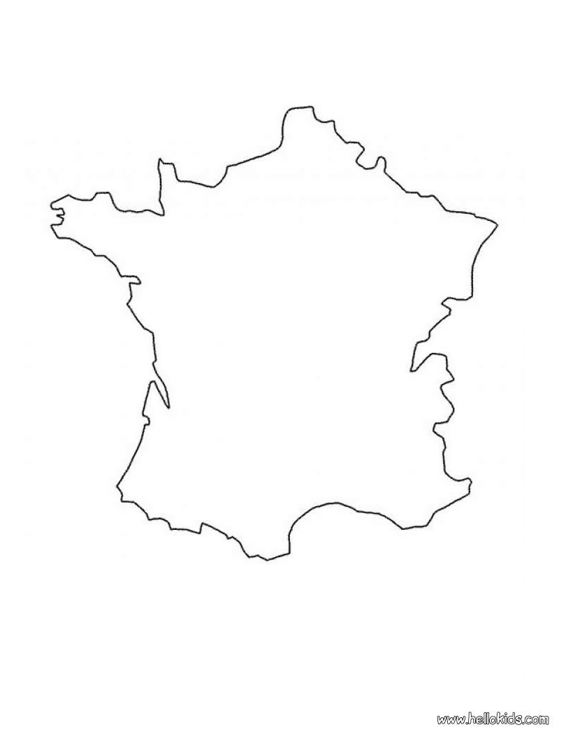 Frankreichkarte zum ausmalen zum ausmalen - de.hellokids.com