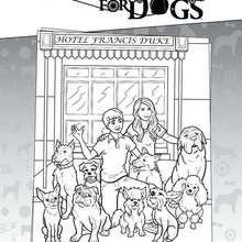 Das Hundehotel zum Ausmalen