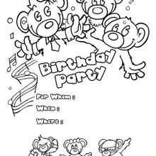 Bären: Geburtstagsparty Einladung