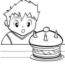 Geburtstagskuchen zum Ausmalen